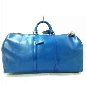 LOUIS VUITTON Epi Keepall 55 Travel Duffle Bag